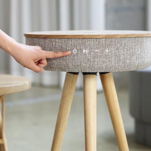 【集購】 Mellow W501T|360度無指向藍芽音響複合木桌(含手機無線充電功能)