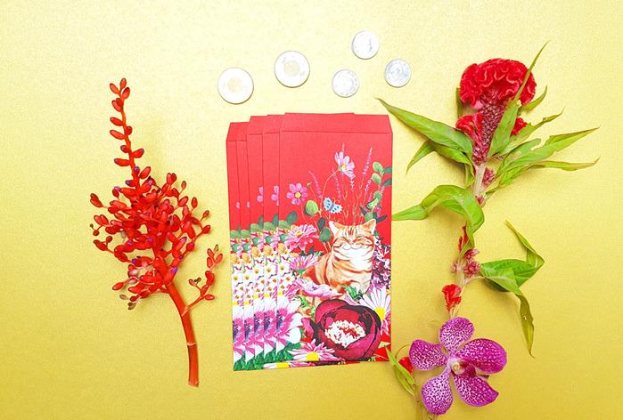 (複製)島民 福獸納福紅包袋 - 耄耋富貴/橘貓 - 5入