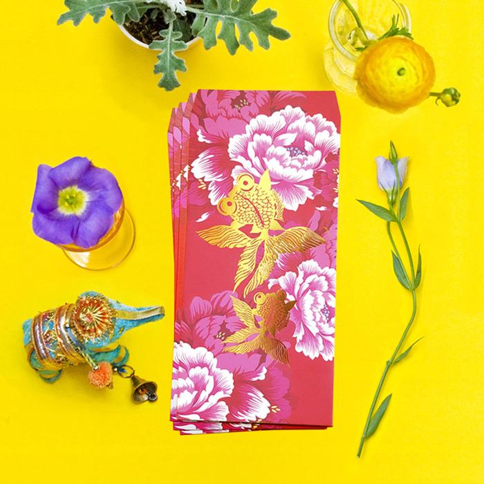 (複製)島民|福獸納福紅包袋 - 耄耋富貴/花貓 - 5入