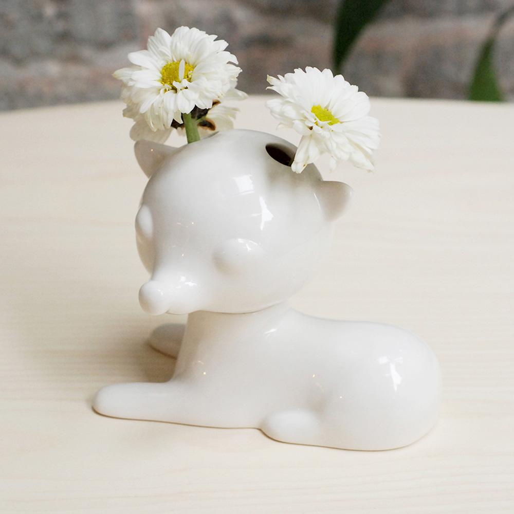 島民|花間小鹿陶瓷花器Deer in Blossom