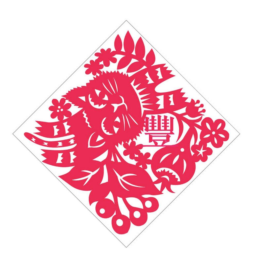 島民|剪紙靜電貼 - 豐 / 中