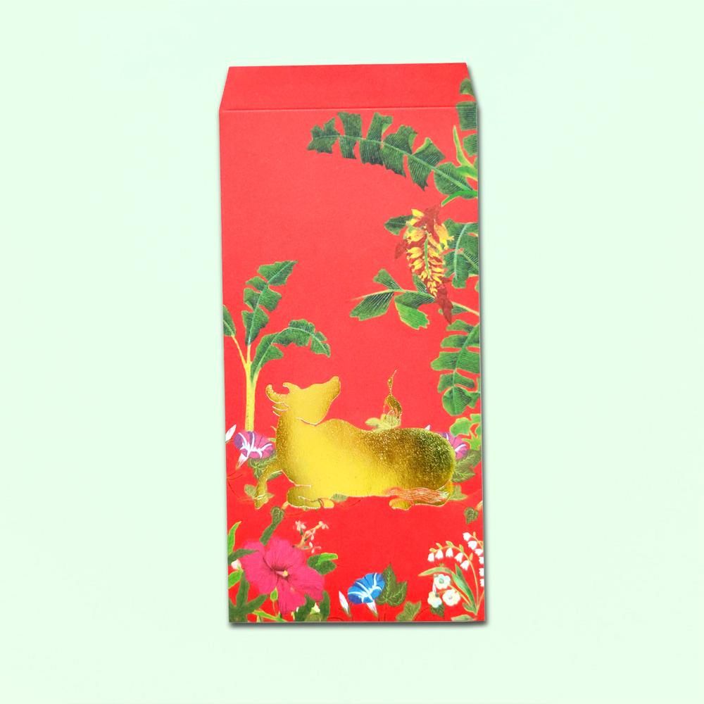 島民|福獸納福紅包袋 -穗穗/歲歲平安/牛- 5入