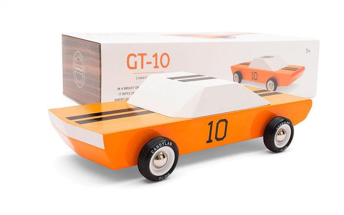 Candylab│復古木製玩具車 - Orange Racer