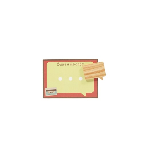 Unic|天然原木造型磁鐵(方型對話框)+精品禮卡