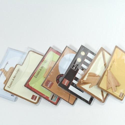 Unic|天然原木造型磁鐵(圓型對話框)+精品禮卡