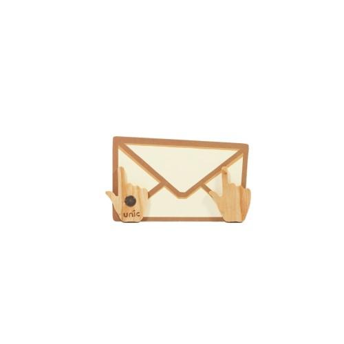 Unic|天然原木造型磁鐵(滑鼠手指)+精品禮卡