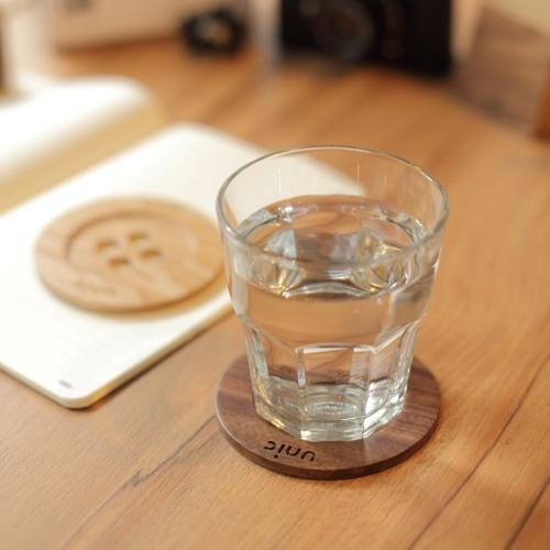 Unic|天然原木鈕扣造型杯墊