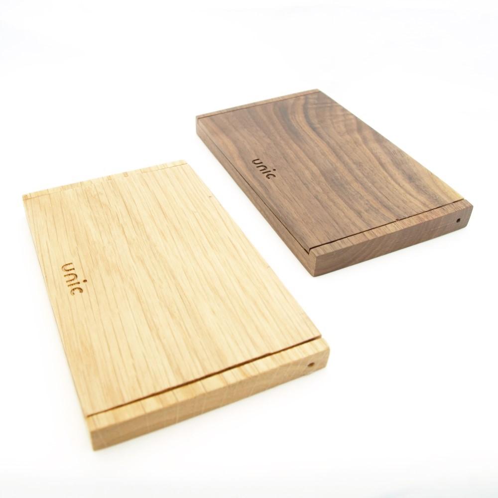 Unic|原木錄音帶造型彩繪名片盒
