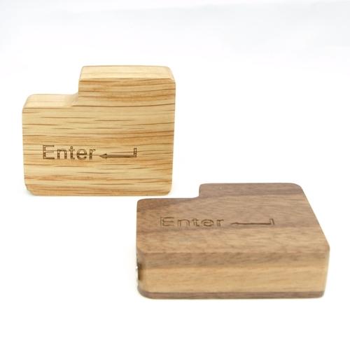 Unic 原木Enter鍵造型捲尺