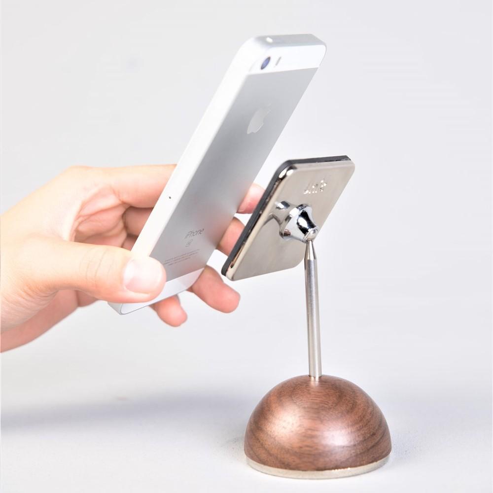 Unic|天然原木矽膠手機座