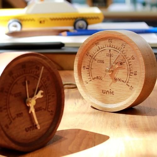 Unic|工業風原木時計