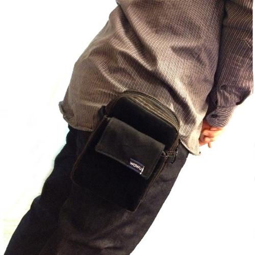 WaWu|腰包/小斜背包(黑條絨布)