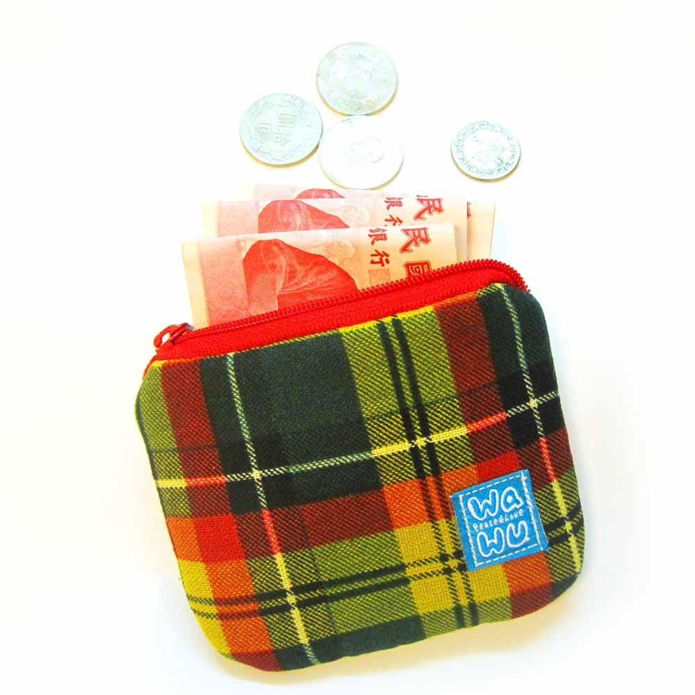 WaWu 小零錢包(黃格紋)