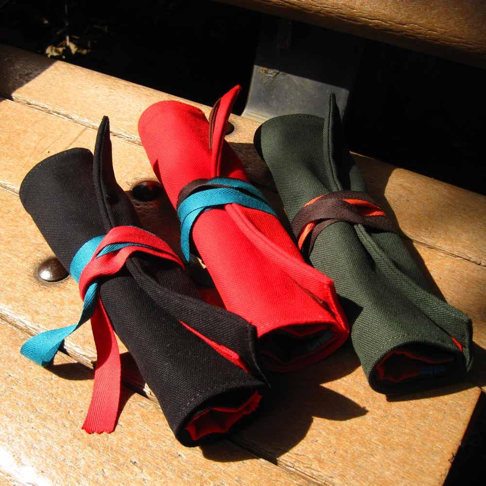 WaWu 筆捲/工具袋(紅色帆布)