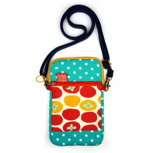 WaWu|拉鍊手機袋XL-附繩(午後番茄)