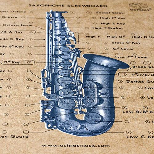 美國OCTOOLS章魚牌|樂器廠級維修工具-薩克斯風專業級全螺絲板
