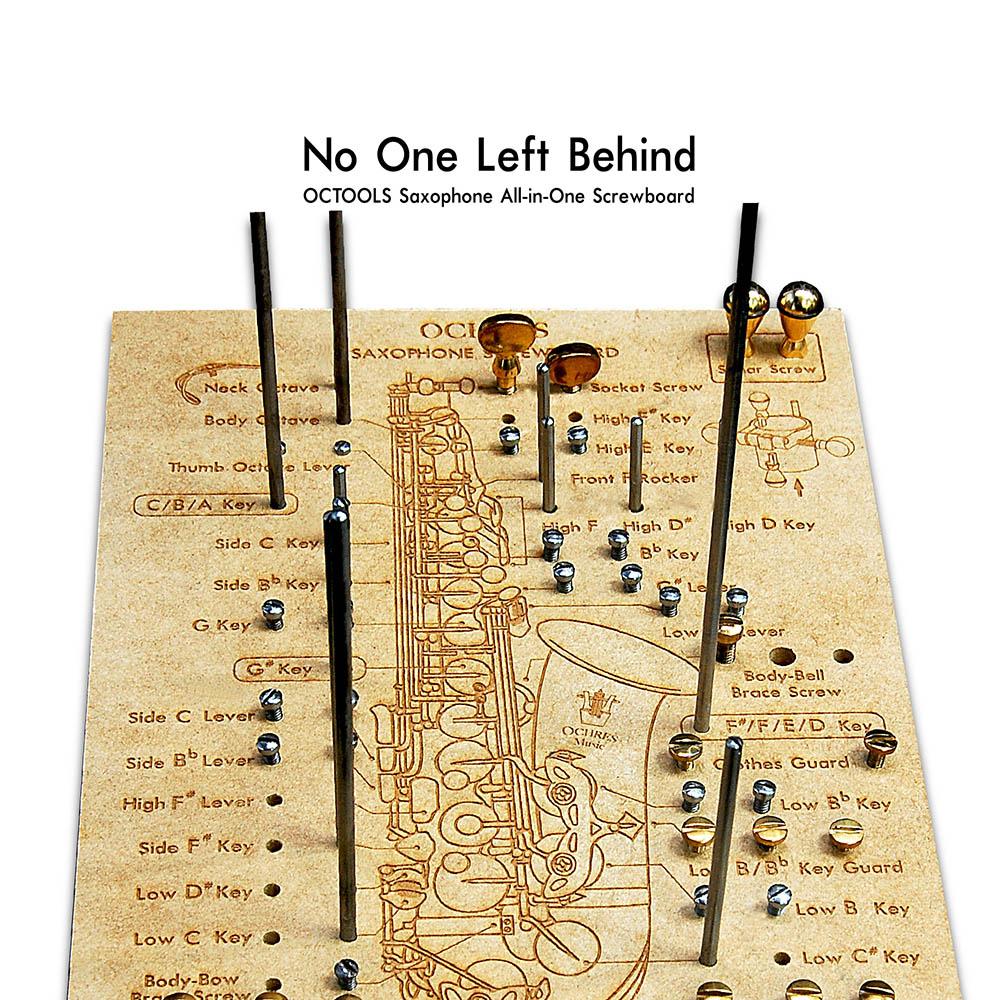 美國OCTOOLS章魚牌 樂器廠級維修工具-薩克斯風專業級全螺絲板