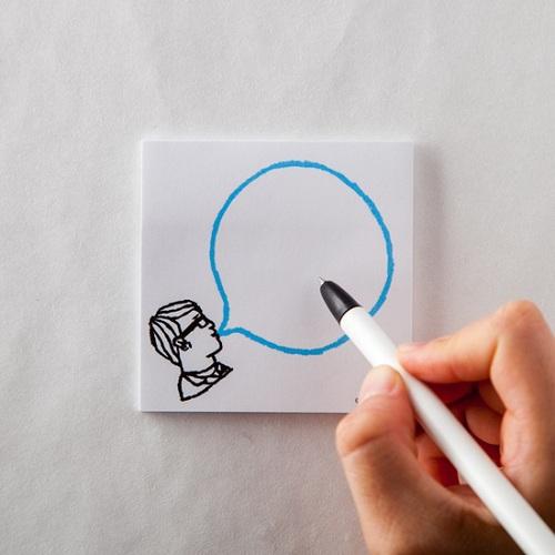 時刻創意|BUBBLE GUM泡泡糖 - 便利貼 眼鏡男の藍汽水