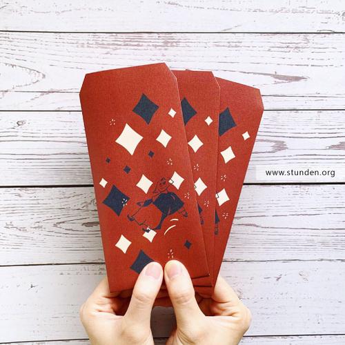 時刻創意 插畫系列 - 紅包袋.禮袋 - 飄向遠方