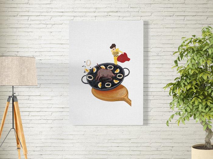 時刻創意|Delicious World 系列-西班牙墨魚飯上的鬥牛場