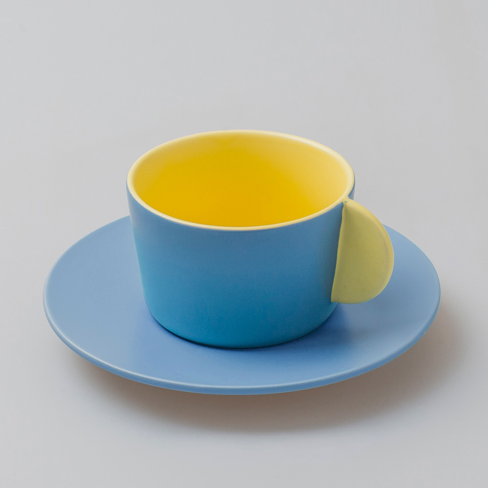 chiandchi|Cappuccino cup and saucer 卡布奇諾杯和盤子套裝(黃色)