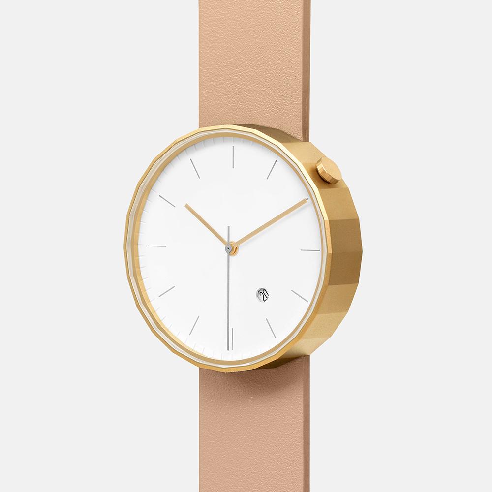 chiandchi|POLYGON-PG02 多邊手錶 (金棕)