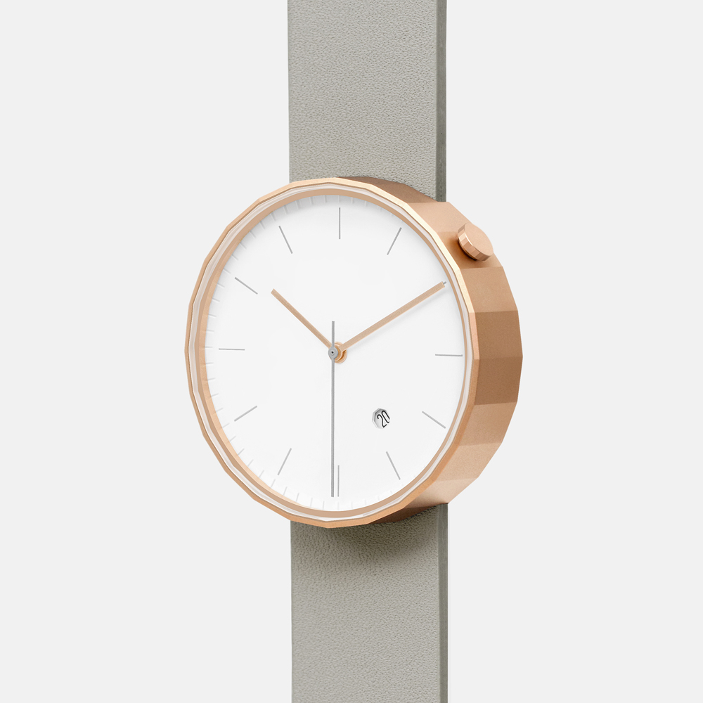 chiandchi|POLYGON-PG02 多邊手錶 (玫瑰金灰)