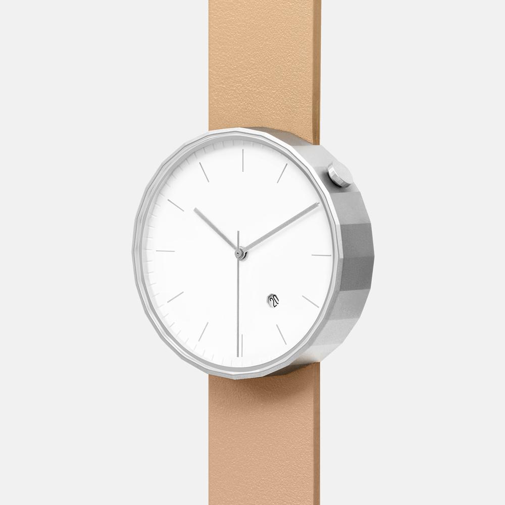 chiandchi|POLYGON-PG02 多邊手錶 (銀棕)