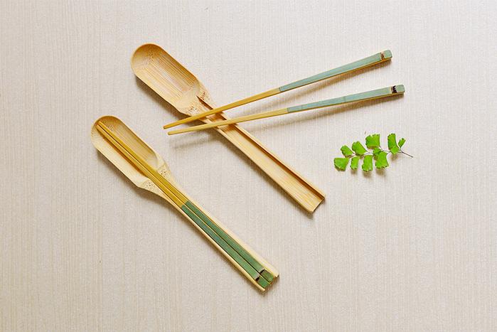 保青竹餐具組-湯筷組合