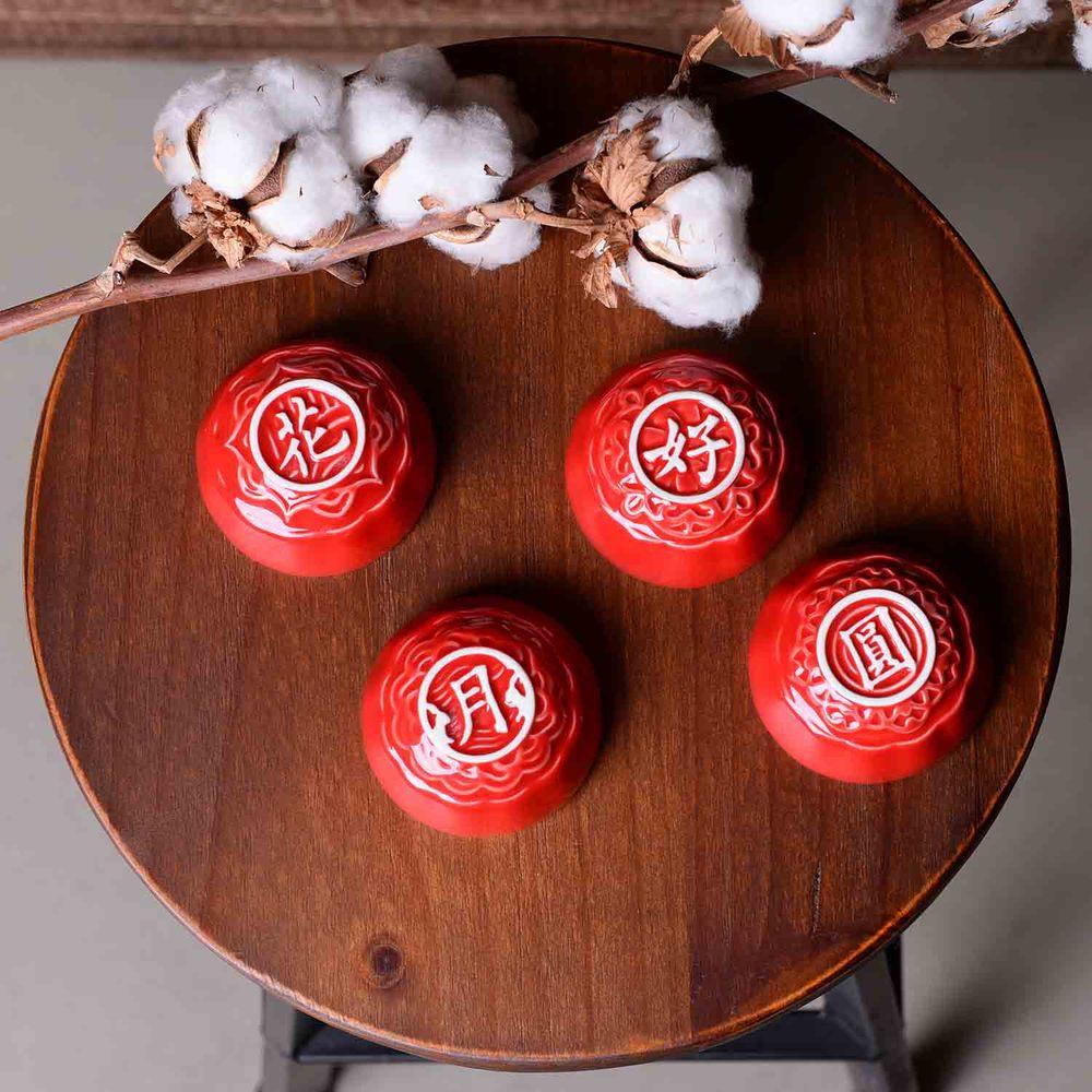 DOT design|小口杯禮盒組-紅