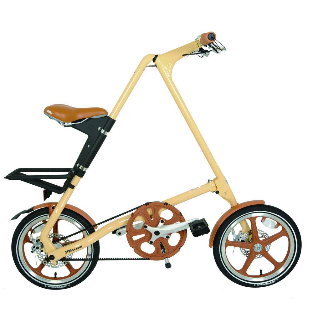 STRiDA|LT 折疊腳踏車(奶油色)