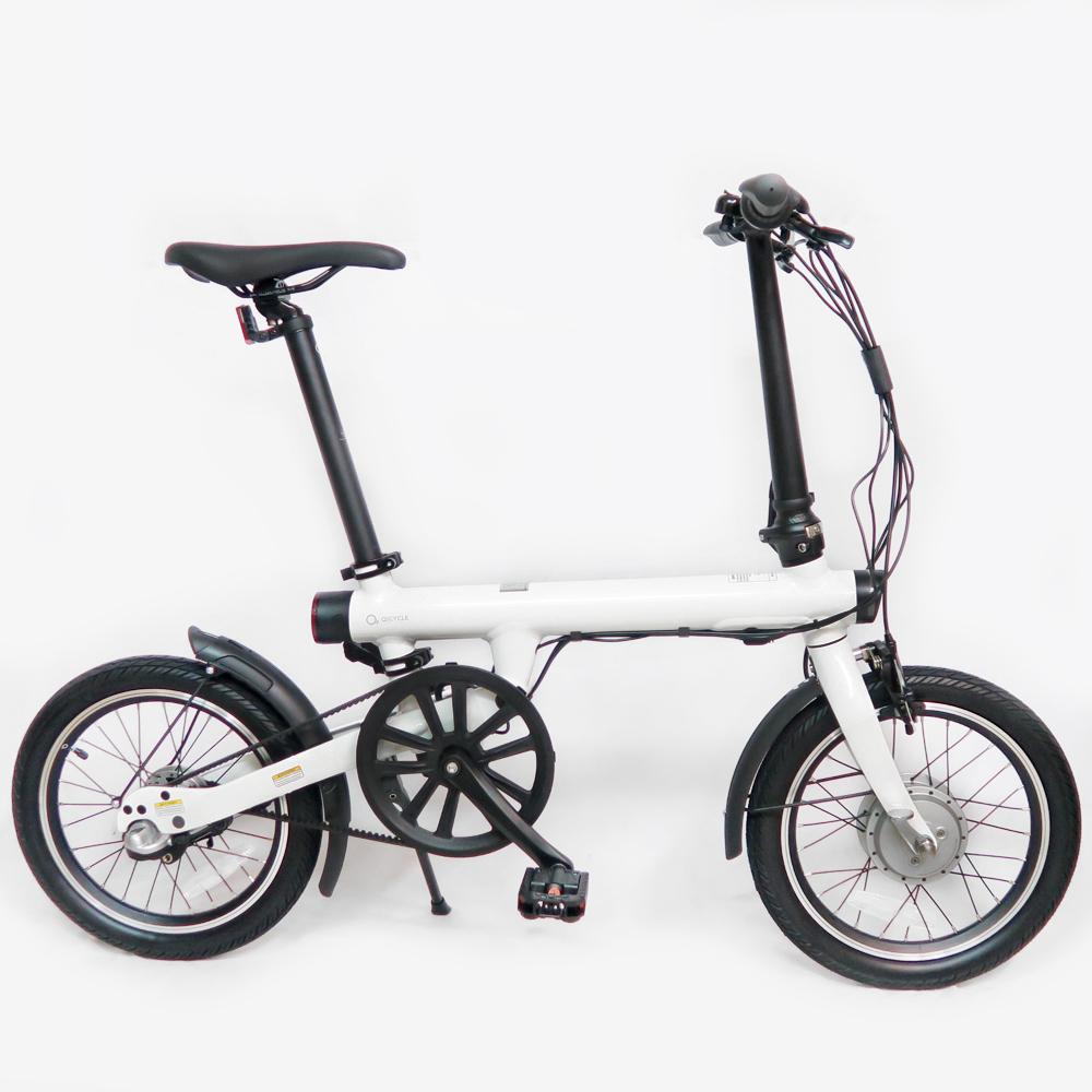 QiCYCLE 騎記|QIEF 鋁合金電動輔助折疊自行車16吋(簡單白)