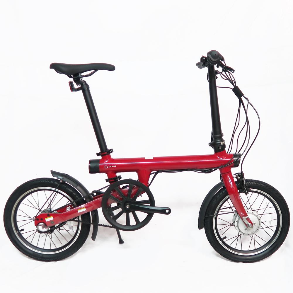 QiCYCLE 騎記|QIEF 鋁合金電動輔助折疊自行車16吋(時尚紅)