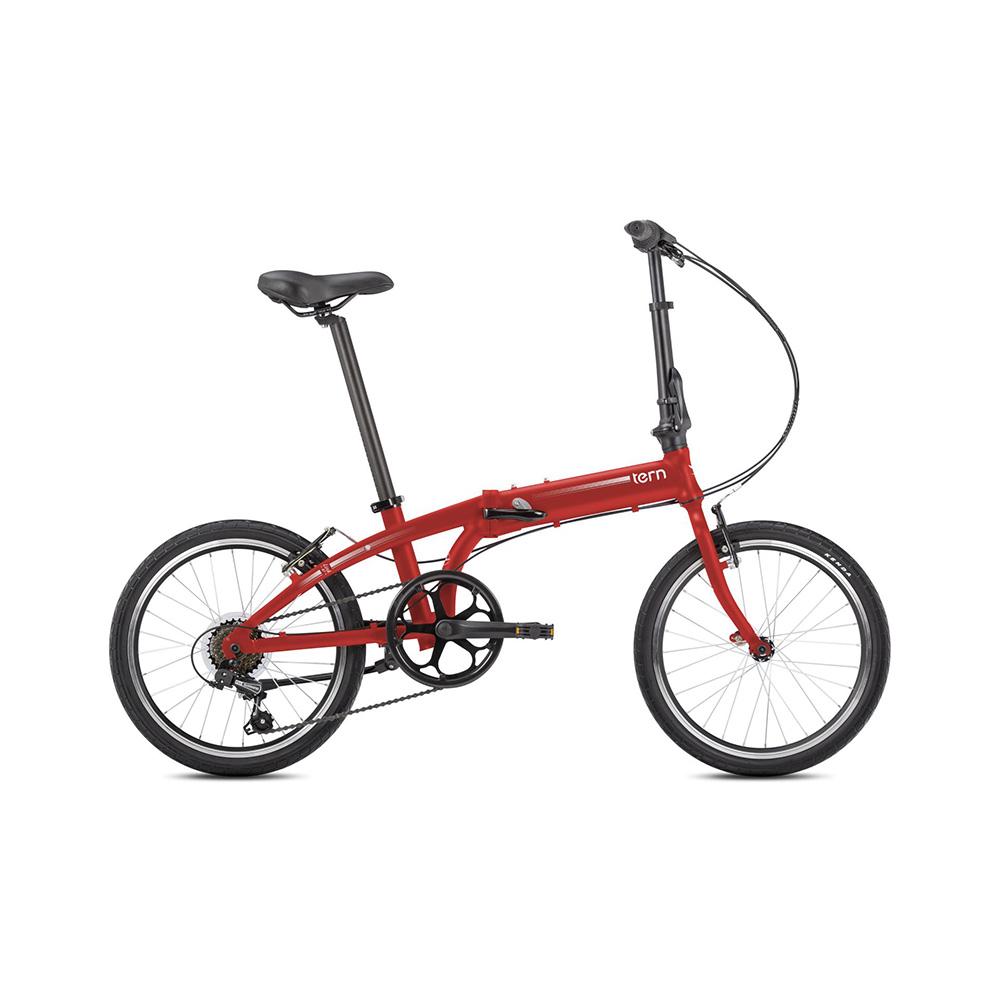 Tern|Link A7 折疊自行車(消光紅)