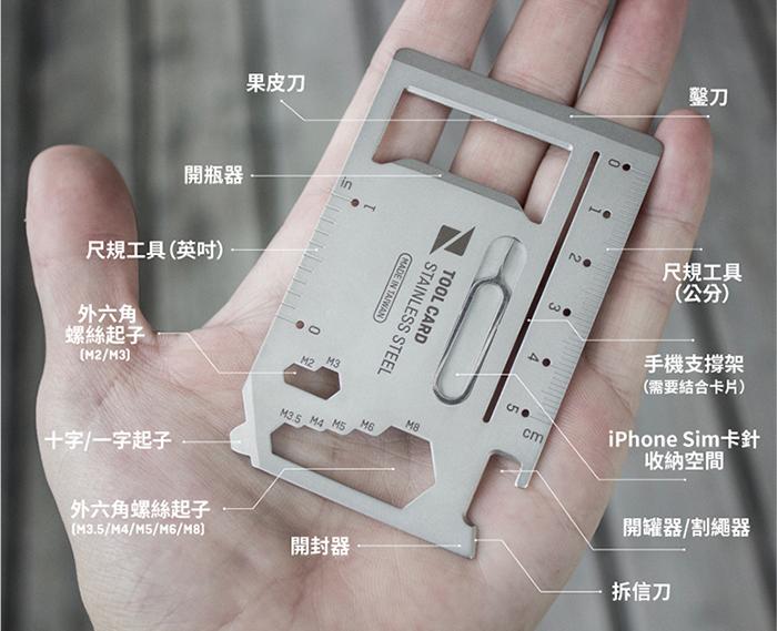 Zenlet 工具卡 (銀)