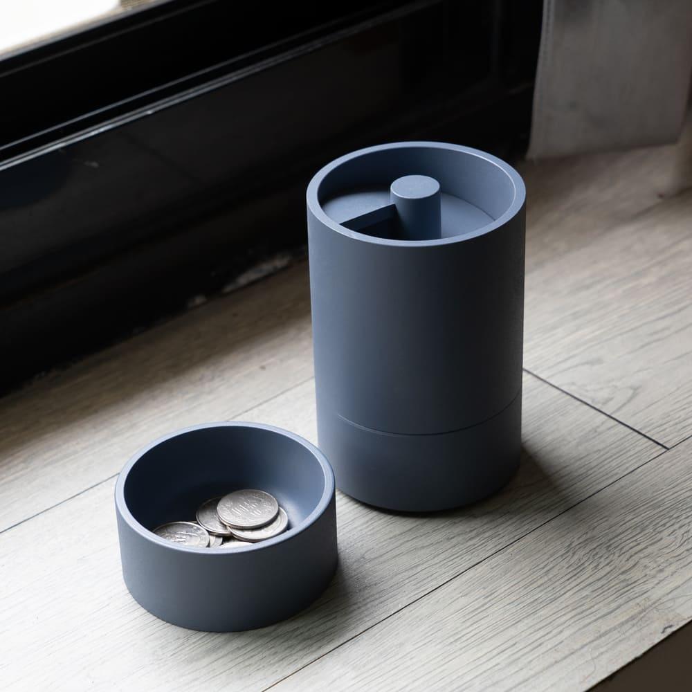 ZENLET|CoinDrift 隨興零錢筒 簡約藍