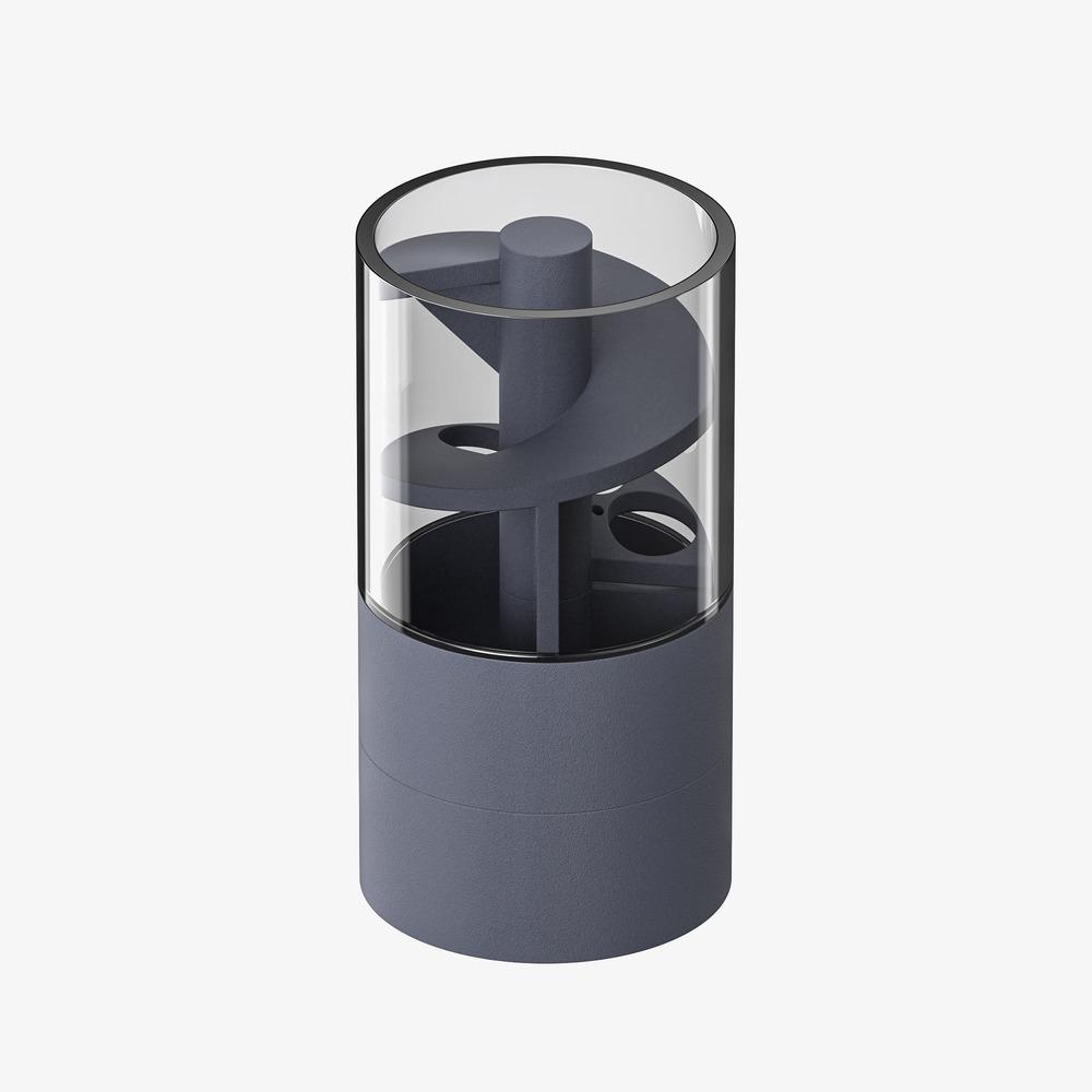 ZENLET CoinDrift 隨興零錢筒 透視藍