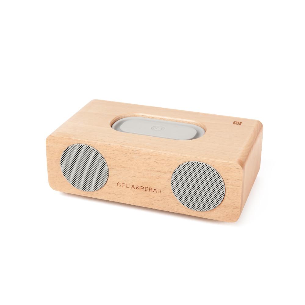 CELIA&PERAH | M2 無線高傳真實木音響-山毛櫸原木色