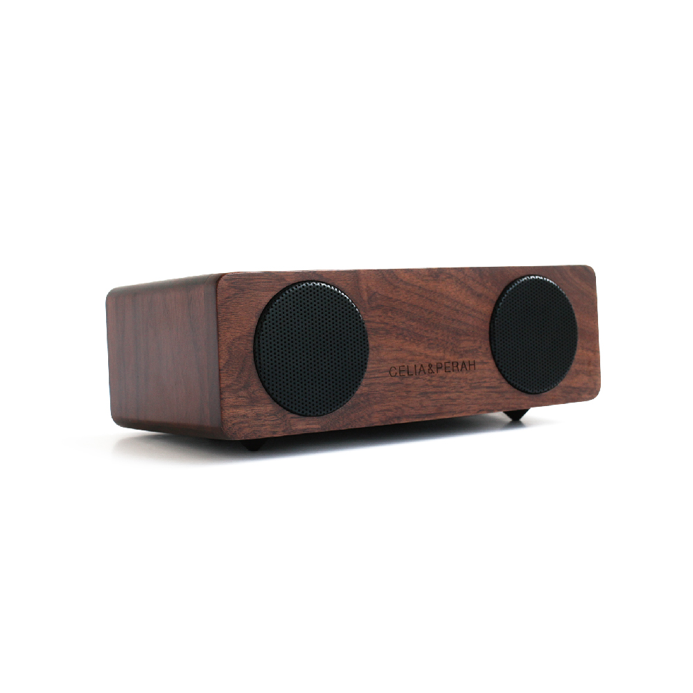 CELIA&PERAH|M2 無線高傳真實木音響-胡桃木原木色