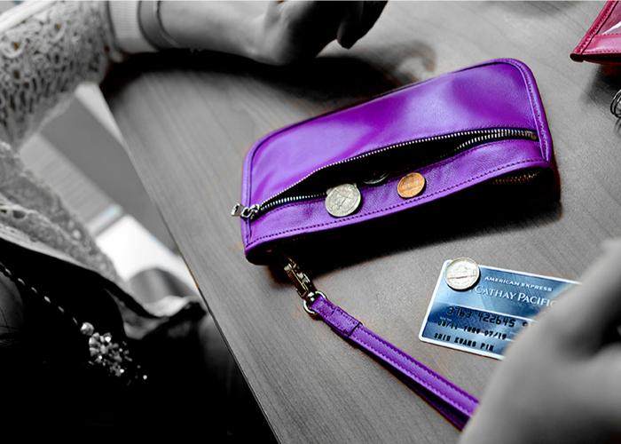 LIEVO|Smartphone真皮兩用隨身包-CUTE(午夜藍)