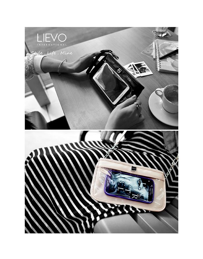 LIEVO|Smartphone真皮兩用隨身包-CUTE(羊毛白)