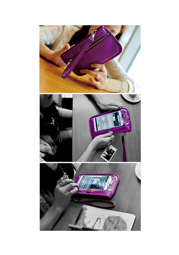 LIEVO|Smartphone真皮兩用隨身包-CUTE(靚紫紅)