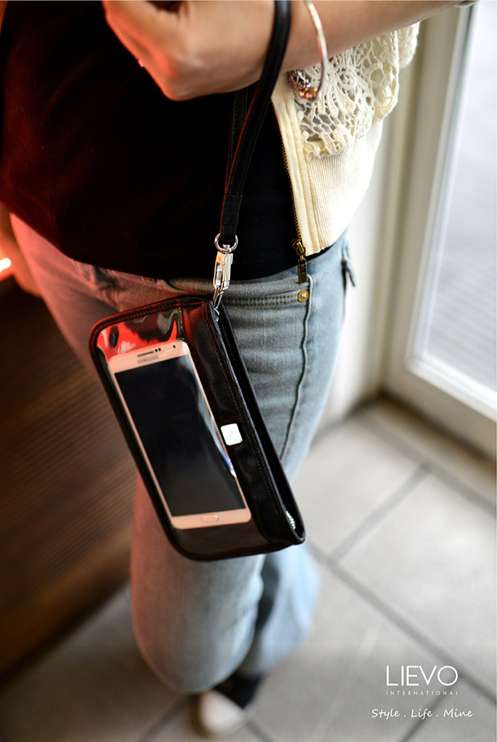 LIEVO|Smartphone真皮兩用隨身包-CUTE(蜜桃紅)