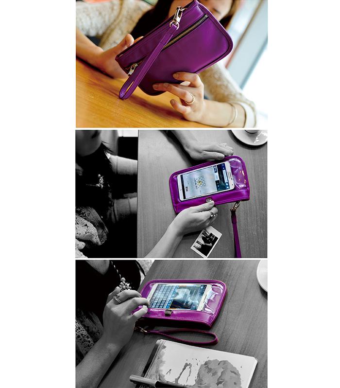 LIEVO|Smartphone真皮手拿包-TOUCH(黑)