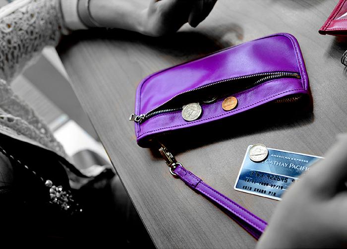 LIEVO|Smartphone真皮手拿包-TOUCH(深紫紅)