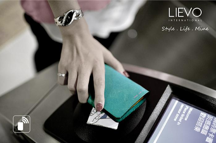 LIEVO|真皮感應卡片夾-EASY(原皮色)
