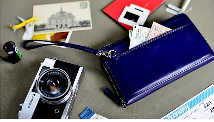LIEVO|旅行手機皮夾-STORY(深礦藍)