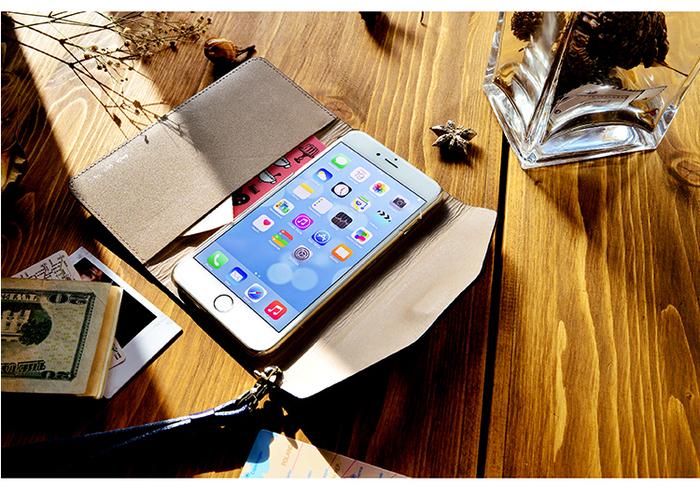 LIEVO|iPhone 7 Plus真皮掀蓋式手機套-STORY(率性黑)