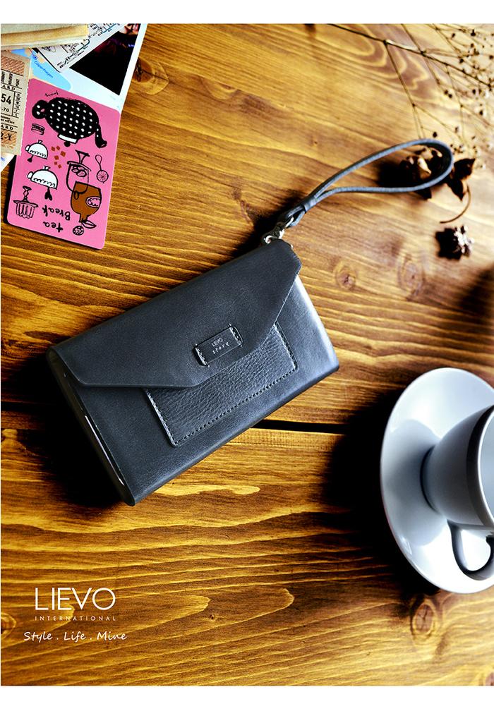 (複製)LIEVO|iPhone 7 Plus真皮掀蓋式手機套-STORY(霧墨灰)