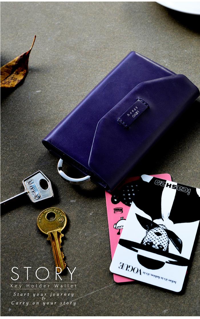 LIEVO|卡片鑰匙包-STORY(深礦藍)